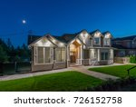 luxury house  home  at  dusk ... | Shutterstock . vector #726152758
