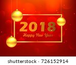 happy new year  easy to edit ... | Shutterstock .eps vector #726152914