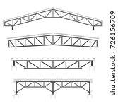 roofing building steel frame...   Shutterstock .eps vector #726156709