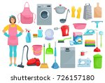 homework flat icons for house... | Shutterstock .eps vector #726157180