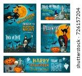 halloween banner set of autumn... | Shutterstock .eps vector #726157204