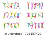 bright idea big group  | Shutterstock .eps vector #726157420