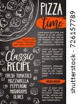 pizza fast food poster template ... | Shutterstock .eps vector #726157789