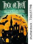 halloween trick or treat... | Shutterstock .eps vector #726157798