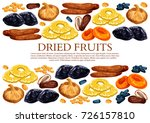 dried fruits poster template of ... | Shutterstock .eps vector #726157810