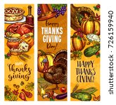 happy thanksgiving day greeting ... | Shutterstock .eps vector #726159940