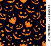 pumpkin background halloween... | Shutterstock .eps vector #726160366
