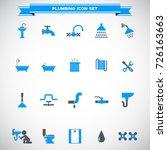 plumbing icons set vector   Shutterstock .eps vector #726163663