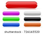 glass buttons. colored... | Shutterstock .eps vector #726165520