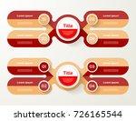 vector infographic template for ... | Shutterstock .eps vector #726165544