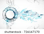 vector illustration  hi tech... | Shutterstock .eps vector #726167170