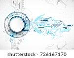 vector illustration  hi tech...   Shutterstock .eps vector #726167170