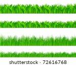 set of grass on white... | Shutterstock .eps vector #72616768