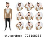 set of emotions for business... | Shutterstock .eps vector #726168388