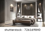 interior bedroom studio mock up ... | Shutterstock . vector #726169840