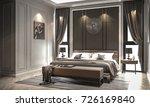 interior bedroom studio mock up ... | Shutterstock . vector #726169840