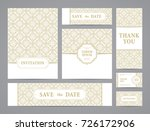 set of ornate vector cards.... | Shutterstock .eps vector #726172906