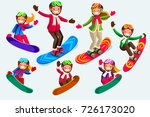 snowboard jump isolated icons.... | Shutterstock . vector #726173020