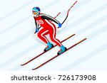 skiing downhill super g athlete