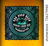 vintage label design for beer... | Shutterstock .eps vector #726175960