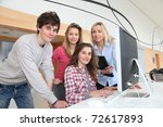 group of students attending... | Shutterstock . vector #72617893