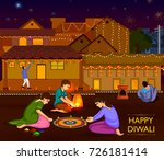 indian family people... | Shutterstock .eps vector #726181414