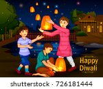 indian family people... | Shutterstock .eps vector #726181444