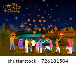 indian family people... | Shutterstock .eps vector #726181504