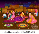 indian family people... | Shutterstock .eps vector #726181549