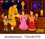 indian family people... | Shutterstock .eps vector #726181570
