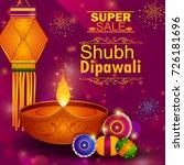 happy diwali light festival of... | Shutterstock .eps vector #726181696
