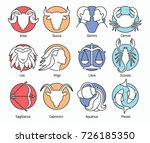 collection of zodiac signs... | Shutterstock .eps vector #726185350
