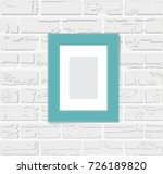 photo frame on a white... | Shutterstock .eps vector #726189820