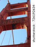 Small photo of Low Angle View of Abutment of the Golden Gate Bridge