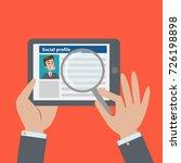 social profile resume. finding... | Shutterstock .eps vector #726198898