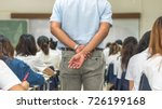 school exam room with teacher ... | Shutterstock . vector #726199168