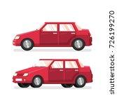 red classic sedan   detailed... | Shutterstock .eps vector #726199270