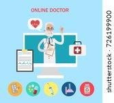 online doctor concept. old... | Shutterstock .eps vector #726199900