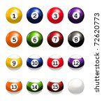 billiard balls  bitmap copy | Shutterstock . vector #72620773