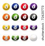 billiard balls  bitmap copy | Shutterstock . vector #72620773
