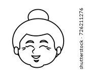cute grandmother cartoon | Shutterstock .eps vector #726211276