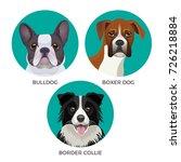short hair bulldog  boxer dog... | Shutterstock .eps vector #726218884