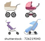 set of strollers and prams...