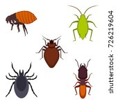 collection of colorful bug... | Shutterstock .eps vector #726219604