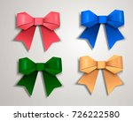 Set Of Realistic Colorful Bows...