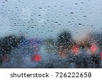 water drop on glass   Shutterstock . vector #726222658