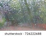 water drop on glass   Shutterstock . vector #726222688