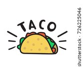 Taco. Vector Hand Drawn Icon ...