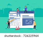 web design and development.... | Shutterstock .eps vector #726225964