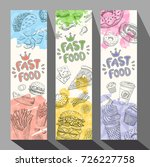 fastfood colorful modern... | Shutterstock .eps vector #726227758